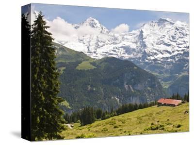 Jungfrau Massif From Murren, Jungfrau Region, Switzerland, Europe