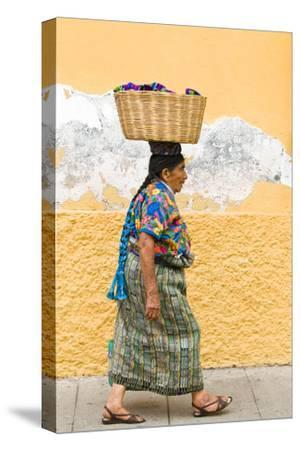 Mayan Woman in Traditional Huipiles (Blouse) and Corte (Skirt), Antigua, Guatemala