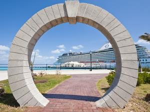 Moon Gate at Cruise Terminal in the Royal Naval Dockyard, Bermuda, Central America by Michael DeFreitas