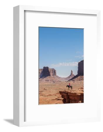 Navajo Man on Horseback, Monument Valley Navajo Tribal Park, Monument Valley, Utah
