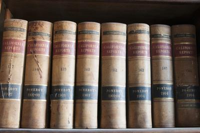 Old Law Books in Library Virginia City, Nevada, USA