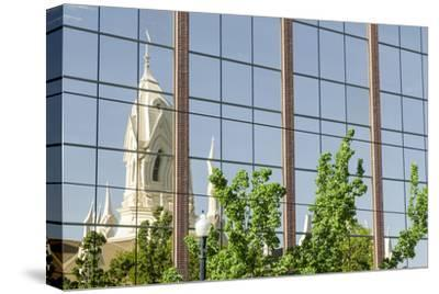 Reflection of Assembly Hall, Temple Square, Salt Lake City, Utah