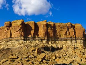 Sandstone Butte in Chaco Culture National Historical Park Scenery, New Mexico by Michael DeFreitas