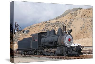 Steam Train Engine, Gold Hill Train Station, Virginia City, Nevada, USA