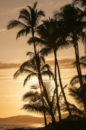 Sunset at Poipu Beach, Kauai, Hawaii