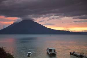 Toliman Volcano and Lago De Atitlan (Lake Atitlan), San Juan La Laguna, Guatemala by Michael DeFreitas