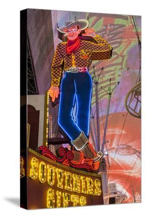 Vegas Vic Cowboy Neon Sign, Fremont Experience, Las Vegas