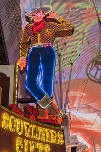 Vegas Vic Cowboy Neon Sign, Fremont Experience, Las Vegas by Michael DeFreitas