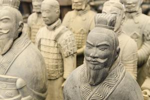 Workshop Producing Terra Cotta Warriors and Other Souvenirs in Xian, China by Michael DeFreitas