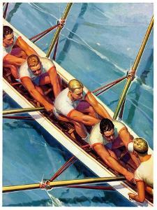 """""""Scullers,""""June 25, 1938 by Michael Dolas"""