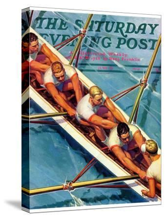 """""""Scullers,"""" Saturday Evening Post Cover, June 25, 1938"""