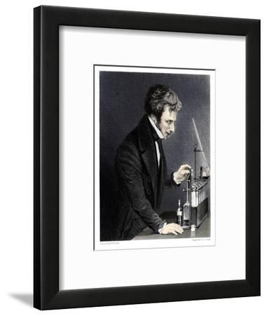 Michael Faraday, British chemist and physicist, c1845-J Cook-Framed Giclee Print