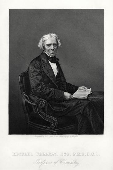 Michael Faraday, British Scientist, C1880-DJ Pound-Giclee Print