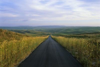 A Paved Road Cuts Through the Remote Sandhills of Nebraska