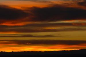 Late Evening Sky with Stripes of Red and Clouds by Michael Forsberg