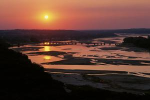 The Sun Sets over the Braided Streams That Form the Platte River by Michael Forsberg
