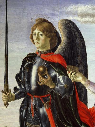 Michael, from Tobias and the Three Archangels (Detail)-Francesco Botticini-Giclee Print