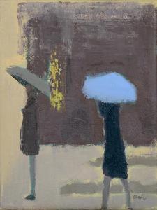 The Blue Umbrella, 2017 by Michael G. Clark