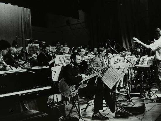 Michael Garrick Conducting an Orchestra at Berkhamsted Civic Centre, 1985-Denis Williams-Photographic Print