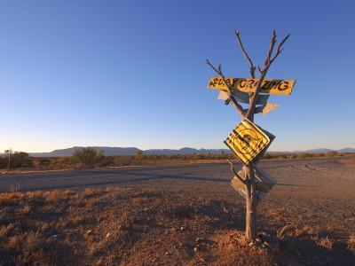 Road Sign Near Parachilna, Flinders Ranges