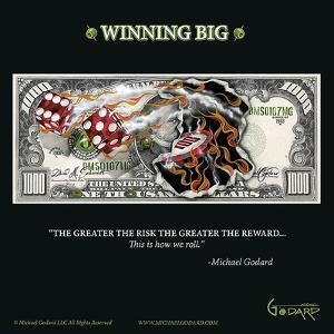 $1,000 Bill Winning Big by Michael Godard