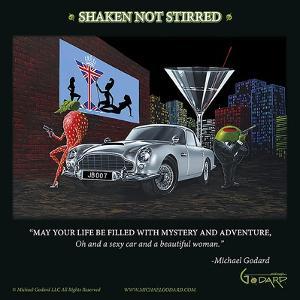 Bond 007 (Shaken Not Stirred) by Michael Godard