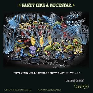 Party Like a Rock Star by Michael Godard