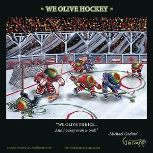 We Olive Hockey by Michael Godard