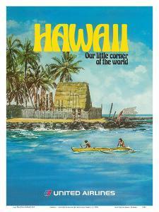 Hawaii - United Airlines - City of Refuge, Honaunau Bay by Michael Hagel