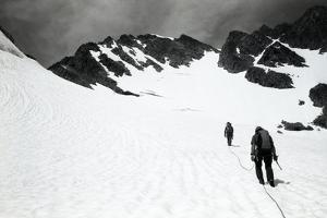 Climbers Ascending a Glacier on a Mountain Near Rogers Pass by Michael Hanson
