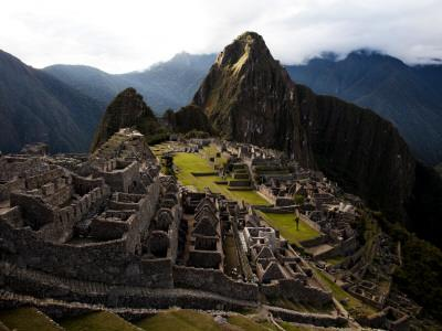 High Angle View of Machu Picchu, an Archaeological Site in Peru