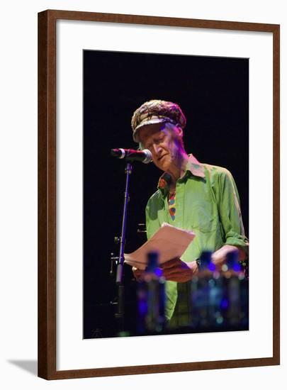 Michael Horovitz, During a Performance of 'Poem', Queen Elizabeth Hall, London, 14th June 2012-Veronique Dubois-Framed Photographic Print