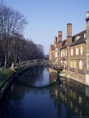 Mathematical Bridge, Queens' College, Cambridge, Cambridgeshire, England, United Kingdom