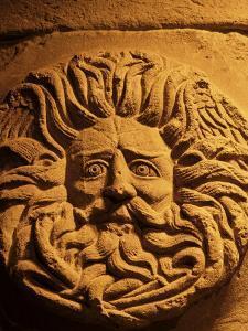 Romano-Celtic Gorgon's Head, Roman Baths, Bath, Avon, England, United Kingdom by Michael Jenner