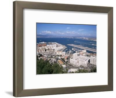 View Over Airport and Europort, Gibraltar, Mediterranean
