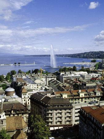View Over the City, Geneva, Switzerland, Europe