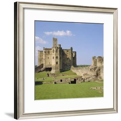 Warkworth Castle Dating from Medieval Times, Northumberland, England, UK