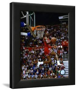 Michael Jordan 1987 Slam Dunk Contest Action
