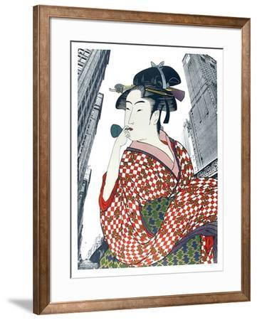 Woman Playing a Poppin (After Utamaro)