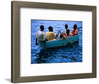 Boys Rowing Boat, Soufriere, Dominica