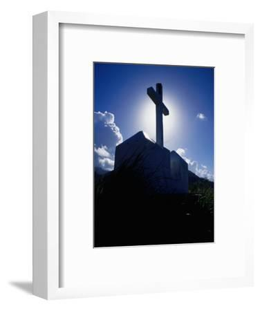 Cross Silhouetted Against Sky, Fort Cachacrou, Soufriere, Dominica