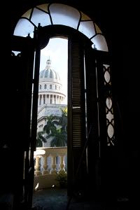 The Capitolio Nacional from the Second Floor of the Gran Teatro De La Habana by Michael Lewis