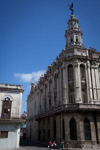 The Gran Teatro De La Habana Towers over Dilapidated Apartments by Michael Lewis