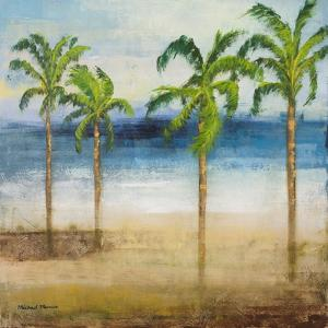Ocean Palms I by Michael Marcon