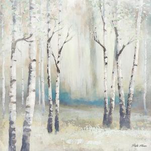 Watercolor December Birch I by Michael Marcon