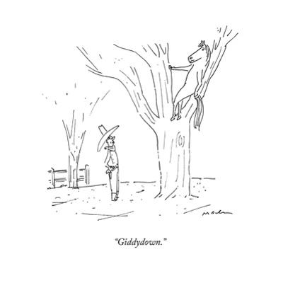 """Giddydown."" - New Yorker Cartoon by Michael Maslin"