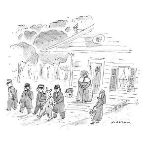 """My, my, Grandma, what tight security you have!"" - New Yorker Cartoon by Michael Maslin"