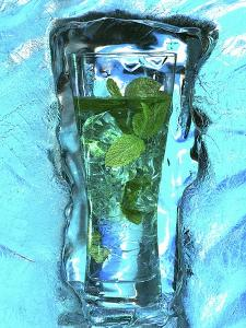 Mojito with Fresh Mint Surrounded by Ice by Michael Meisen