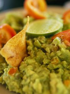 A Close View of Guacamole Dip by Michael Melford