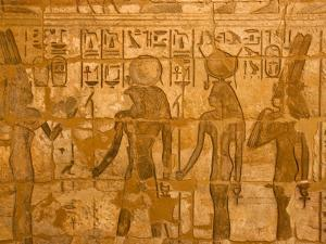 A Detail of a Wall Relief at Medinet Habu by Michael Melford